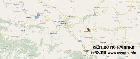 Родник, святой источник города Новопавловск